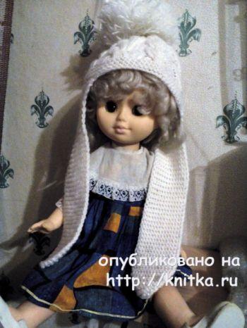 Шапочка для девочки с ушками. Работа Светланы Норман. Вязание спицами.