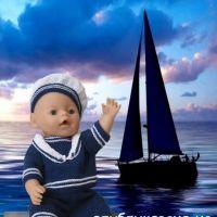 Костюм для куклы Baby Born. Работа Людмилы Петровой