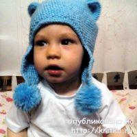 Кото – шапочка для ребёнка 3-4 лет. Работа Светланы Норман