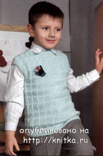 Вязание детского жилета спицами (для мальчика)