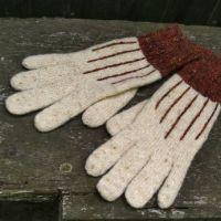 Твидовые перчатки спицами