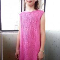Платье для девочки спицами. Работа Татьяны Ивановны