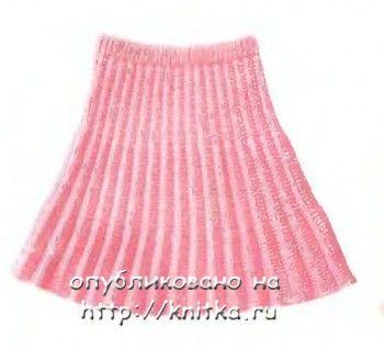 Как связать спицами плиссированную юбку