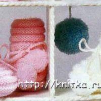 Белые и розовые пинетки