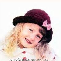 Шляпа для маленькой модницы