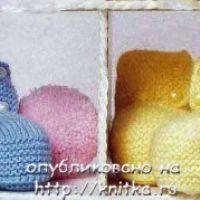 Пинетки для малышей с пуговками