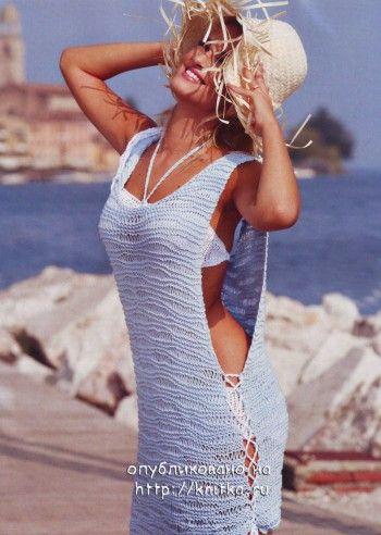 Летняя туника – накида. Вязание спицами.