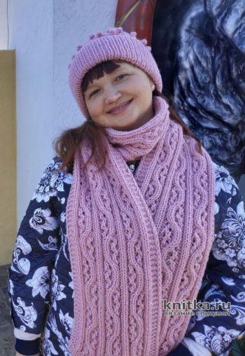 Описание и видео-урок по вязанию шарфа спицами