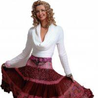 Многоярусная юбка, сязанная спицами