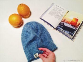 Как связать шапку-бини спицами из мохера