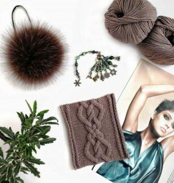 Классная объемная коса для шапки, шарфа или варежек