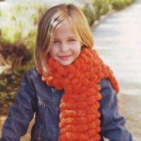 Объемный шарф спицами для девочки