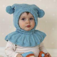 Детская шапочка, вязаный шлем