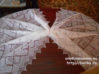 Схемы для вязания палантина из козьего пуха