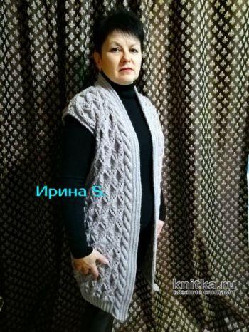 Схемы вязания женского удлиненного жилета
