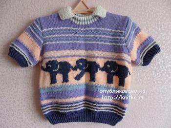 Детский пуловер Парад слонов
