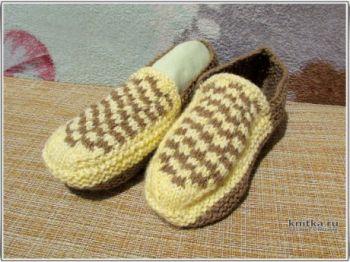Простые носки следки спицами, мастер-класс