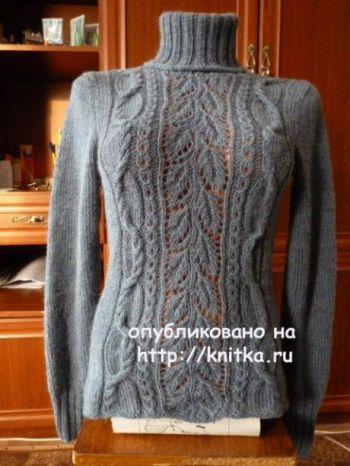 Женский свитер спицами от Марины Ефименко