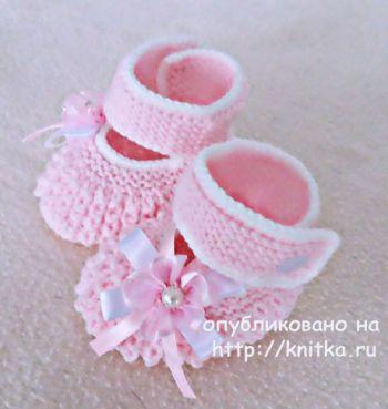Схема вязания пинеток для девочки спицами от Елены Зубковой