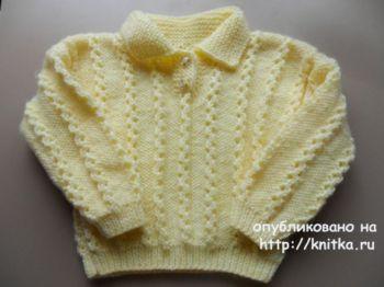 Детский пуловер спицами от Светланы Шевченко