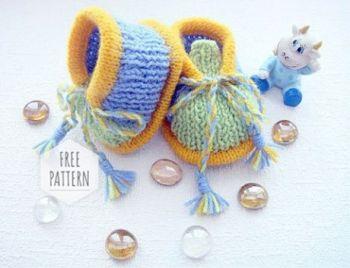 Схема вязания красивых пинетки спицами