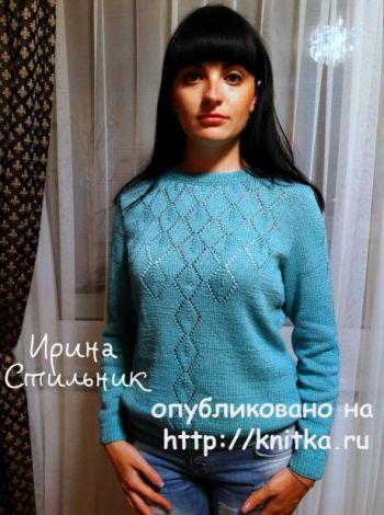 Как вязать спицами женский пуловер
