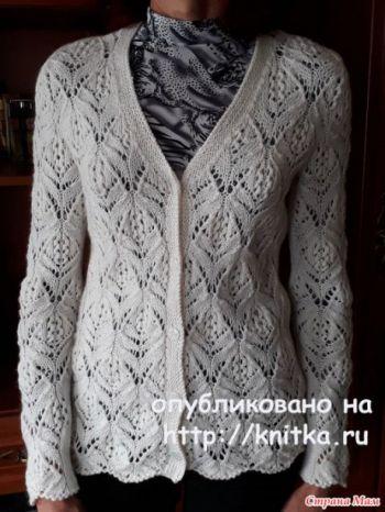 Ажурный жакет спицами для женщин от Марины Ефименко