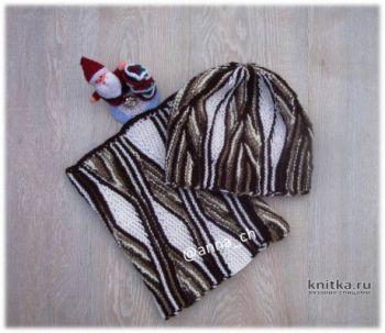 Свинг вязание: шапка и снуд спицами