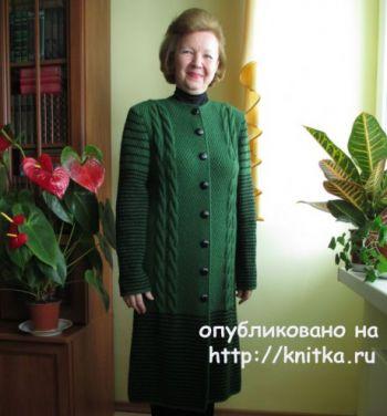 Вязаное спицами пальто для женщин от Светланы Якимовой