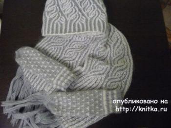 Шапочки и шарфы в технике бриошь