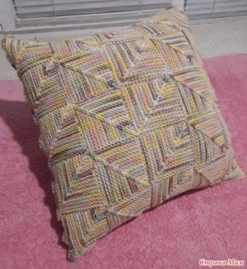 Как вязать квадратные мотивы пэчворк для подушки или пледа