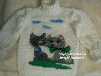 Детские свитера спицами. Работы Ирины