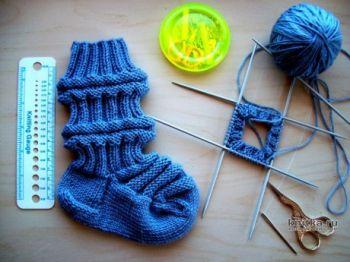 Детские носочки спицами ФИНСКИЕ, мастер-класс для начинающих