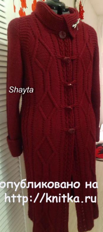Пальто кардиган Сангрия с рукавами реглан от Shayta