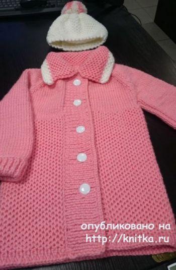 Пальто спицами для девочки от Ольги Ярославской