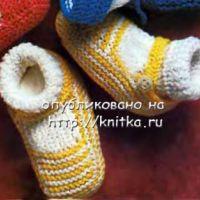Желтые туфельки – пинетки