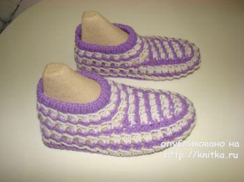 Вяжем носки для дома спицами, мастер-класс для начинающих