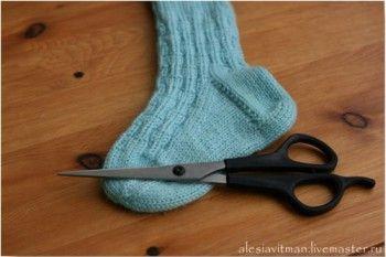Ремонт или модернизация носочков. Вязание спицами.