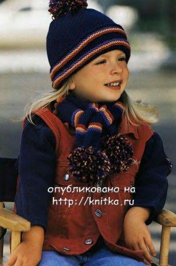 МышеШарф, связанный спицами,  Вязание для детей