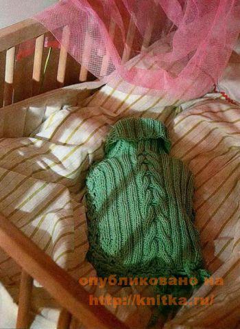 Свитер для грелки. Вязание спицами.