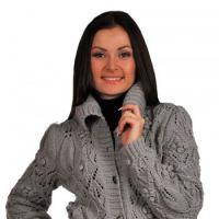 Вязание спицами – Жакет с ромбовидными узорами