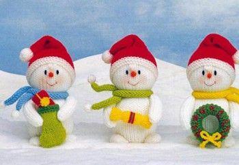 Вязаные игрушки на ёлку. Вязание спицами.