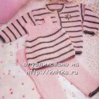 Модное трио: безрукавка, жакет и штанишки