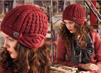 Шапочка-шлем из Vogue Knitting. Вязание спицами.