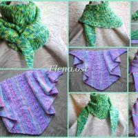 Бактус – треугольный шарф-косынка МК