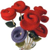 Вязание спицами: Перуанская роза