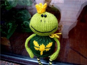 Царевна-лягушка, связанная спицами. Вязание спицами.