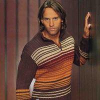 Пуловер с застежкой поло в коричневых тонах