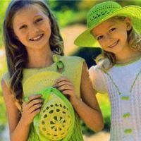 Желто-зеленое платье для девочки