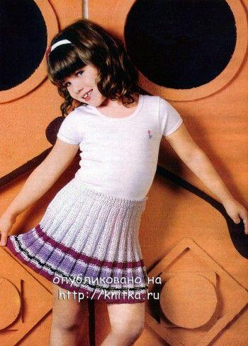 Юбка для девочки. Вязание спицами.